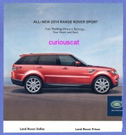 PUBLICITES USA MAGAZINE ADVERTISEMENT RECLAME WERBUNG PUBBLICITI PUBLICIDAD For LAND ROVER RANGE ROVER SPORT AUTO CAR - Advertising