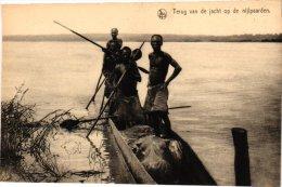 CONGO  BELGE, Fishing & Hunting, 3 Odl Postcards,  Chasse Au Hippo, Banana Fishery , Elephants, Poste Api  Uele - Belgian Congo - Other