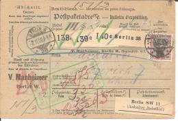 Ger083/  Mi.Nr. 95 A + 90 I Ex Berlin 1908 In Die Schweiz - Briefe U. Dokumente