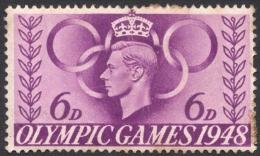 Great Britain, 6 P. 1948, Sc # 273, Mi # 239, Used - 1902-1951 (Kings)
