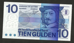 [NC] PAYS - BAS / NETHERLANDS / OLANDA - 10 GULDEN  (1968) - AUNC - [2] 1815-… : Regno Dei Paesi Bassi