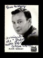 AUTOGRAPHES - ALAIN NANCEY - Théâtre PACRA à Paris - Dédicace - Chanteur - Autographes