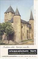 Buvard Pharmacieutique -VIVACALCIUM  Laroche  Navarron Eglise Fortifiée De MORLANNE - Chemist's