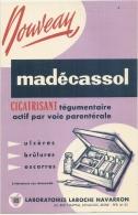 Buvard Pharmacieutique - MADECASSOL Laboratoire Laroche Navarron Levallois Seine TTB - Chemist's