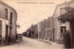 Le Puiset-Doré..animée..route De St-Laurent..café..charette - France