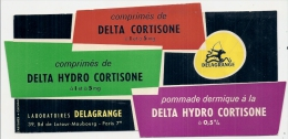 Buvard Pharmacieutique - DELTA HYDRO CORTISONE   - Digestif TTB - Chemist's