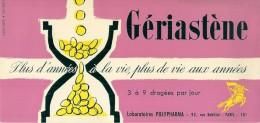 Buvard Pharmacieutique -GERIASTENE Laboratoires  Polypharma - Chemist's