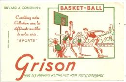 Buvard Textile - BUVARD : GRISON Produit D´entretien Des Chaussures Serie Sport BASKET BALL  - TTB - Textile & Clothing