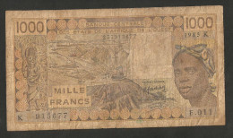 WEST AFRICAN STATES - 1000 FRANCS (1985) - BANQUE CENTRALE Des ETATS De L' AFRIQUE De L' OUEST - Stati Dell'Africa Occidentale