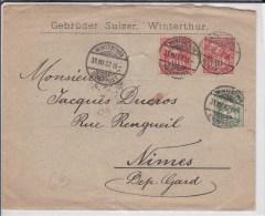 SUISSE - 1902 - ENVELOPPE De WINTERTHUR - 1882-1906 Armarios, Helvetia De Pie & UPU