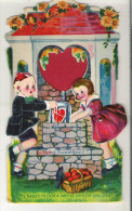 """Antique Valentine Card My Heart Is Just A Well Of Love For You, Dear Jack And Jill Move 7"""" X 4""""  17.5 Cm  10 Cm - Seasons & Holidays"""