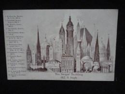 New - York :  The Singer Building. Carte Publicitaire. Voir 2 Scans. - Non Classés
