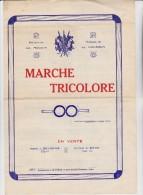 PARTITION - LA MARCHE TRICOLORE -AVEC DEDICACE D'ANTOINE MECHIN - Partitions Musicales Anciennes