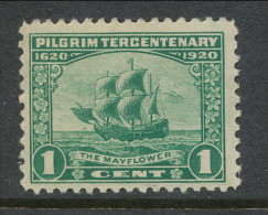 USA 1920 Scott 548. Pilgrim Tercentenary Issue, 1 C Green MNH (**) - United States