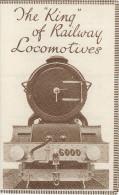 Railway Ephemera GWR The King Of Railway Locomotives 6000 George V 1927 Leaflet Replica - Werbung