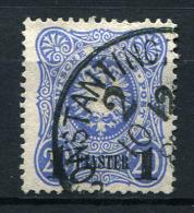 17411) DEUTSCHE KOLONIEN Türkei # 3 Gestempelt Aus 1884, 10.- € - Bureau: Turquie