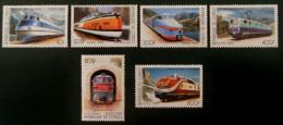 TRAINS 1999  - NEUFS ** - MI 1684/89 - Congo - Brazzaville