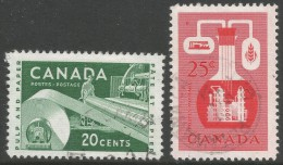 Canada. 1956 Pulp, Paper And Chemical Industries. 20c, 25c Used - 1952-.... Reign Of Elizabeth II