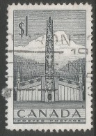 Canada. 1953  Pacific Coast Indian House & Totem Pole. $1 Used - 1952-.... Reign Of Elizabeth II