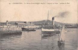 """¤¤  -  49  -  CHERBOURG  -  Le Bateau Excursionniste Anglais """" Emperor Of India """" Quittant Le Port - Cherbourg"""