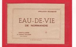 MESNIL-MAUGER (14) / ETIQUETTES D´ALCOOL / EAU DE VIE DE NORMANDIE / Distillerie De Mesnil-Mauger - Etiketten