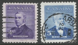 Canada. 1954 Prime Ministers (3rd Issue). Used Complete Set. - 1952-.... Reign Of Elizabeth II