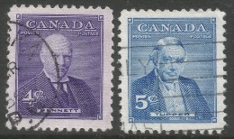 Canada. 1955 Prime Ministers (4th Issue). Used Complete Set. - 1952-.... Reign Of Elizabeth II