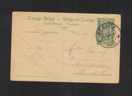 Deutsch-Ostafrika Belgische Besetzung Postkaart 1918 - Ganzsachen