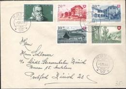 Brief Mit  Zu 38-41 Mi 508-511 Yv 457-460 Mit O RÜTLI 1.VIII.48 (Zu CHF 45.00) - Pro Patria