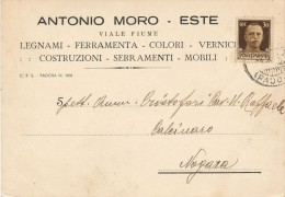 ESTE PADOVA - A. MORO LEGNAMI FERRAMENTA COLORI ETC. 1943 - Padova (Padua)