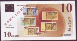 """Test Note """"Specimen 1998"""" € 10  UNC, Rare - EURO"""