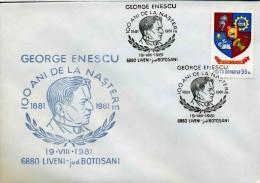 ROUMANIE - LIVENI 1981 - GEORGE ENESCU - Musica