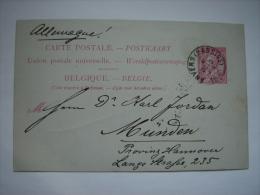 Carte Postale Belgique 1890 (14X9cm) - Belgium