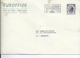 (9) Enveloppe Avec TIMBRE PRINCIPAUTE  De MONACO RAINIER III Prince De MONACO 0.30 + Flamme Postale Monaco - Monaco