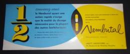 Buvard Ancien/Vintage Blotter - Abbott Laboratories, Bd. De Waterloo, Bruxelles - Nembutal - Produits Pharmaceutiques