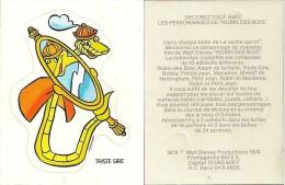 Adhésif Publicitaire Robin Des Bois La Vache Qui Rit Walt Disney 1974 - Autocollants