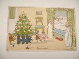 EBNER    BUON NATALE NOEL Noël    ENFANTS ILLUSTRATEUR SIGNEE  POSTCARD  CIRCULE' USED CONDITION PHOTO  FORMATO  Piccolo - Other