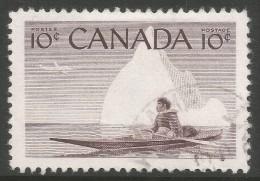 Canada. 1955 Eskimo Hunter. 10c Used - 1952-.... Reign Of Elizabeth II