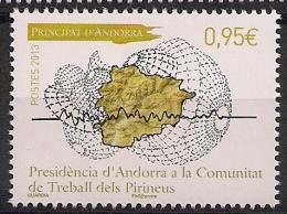 2013  Andorra Fr. Mi.766 **MNH  Vorsitz Andorras In Der Internationalen Arbeitsgemeinschaft Der Pyrenäenstaaten - Unused Stamps
