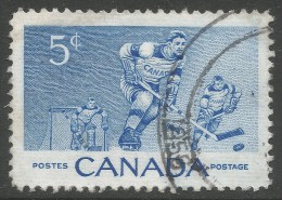Canada. 1955 Ice-Hockey Commemoration. 5c Used. SG 485 - 1952-.... Reign Of Elizabeth II