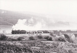 Railway Photo Card Southbound Freight At DENT HEAD VIADUCT 1962 LMS 0-6-0 Loco - Picture Cards
