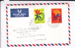 LIECHTENSTEIN - 1970 - ENVELOPPE AIRMAIL De VADUZ Pour Les USA - Briefe U. Dokumente