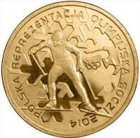 "POLONIA 2 ZLOTES  2.014  2014 Oro Nórdico  ""Olympic Team Sochi 2014""  T-DL-10.718 - Polen"