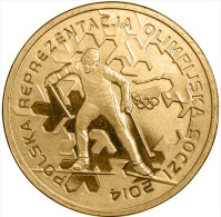 "POLAND 2 ZLOTES  2.014  2014 Oro Nórdico  ""Olympic Team Sochi 2014"" SC/UNC  T-DL-10.718 - Poland"