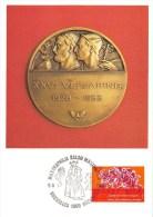 Carte Postale - 50e Anniversaire De L'existence Des Neuf Chambres Des Métiers- Négoces   - Timbre 1e Jour Correspondant - Timbres (représentations)