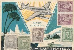 BUENOS AIRES - 1937 , VIA CONDOR - LUFTHANSA , Karte Nach Berlin-Siemensstadt - Luftpost