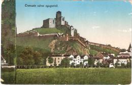 AK Col 1915r TRENCIN , Slowakei, Burg ,Ruine, Topographie, Wohnhäuser, Sandusky - Slowakei