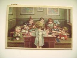 A.  BERTIGLIA  ENFANTS  SCHOOLL   ILLUSTRATEUR SIGNEE    POSTCARD  CIRCULE' USED  FORMATO PICCOLO - Bertiglia, A.