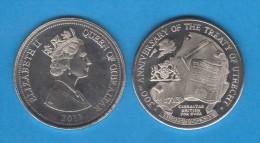 "GIBRALTAR 3 Pounds 2.013 ""300th Anniversary Of The Treaty Of UTRECHT"" SC/UNC T-DL-10.720 - Gibilterra"