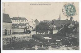 Auxonne (Côte D´Or 21) Rare CPA Vue Prise Des Remparts (Prély) Très Animée , Blanchisseuses - Auxonne
